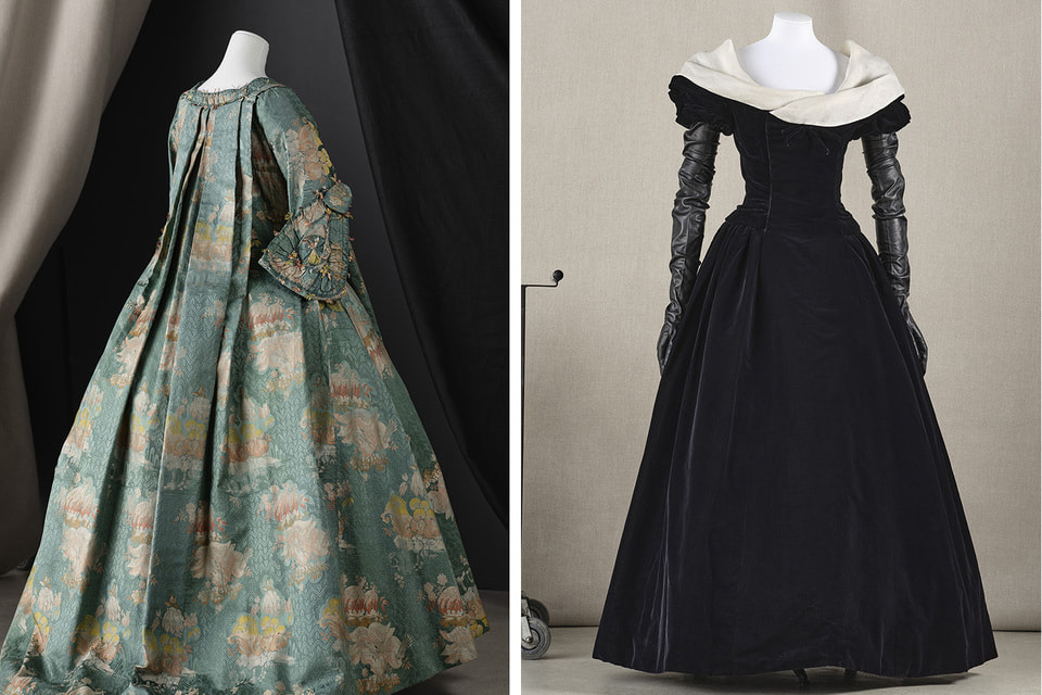 Экспонаты выставки в Парижском музее моды Гальера
