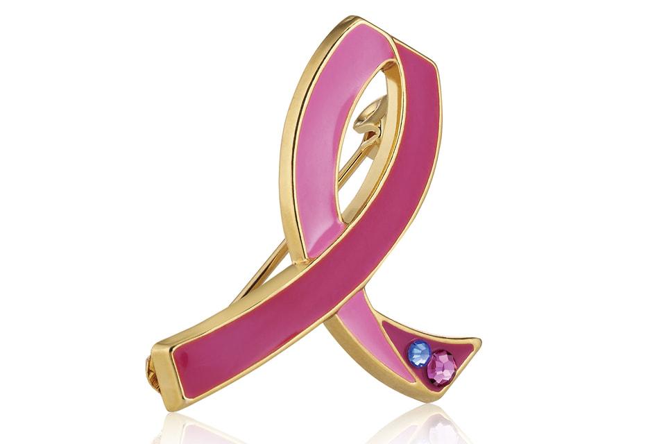 Розовая ленточка, символ акции Estee Lauder Companies по борьбе с раком груди
