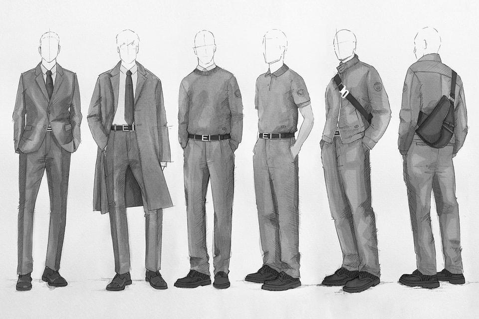 Гардероб в стиле casual в эскизах от креативного директора мужских коллекций Dior Кима Джонса