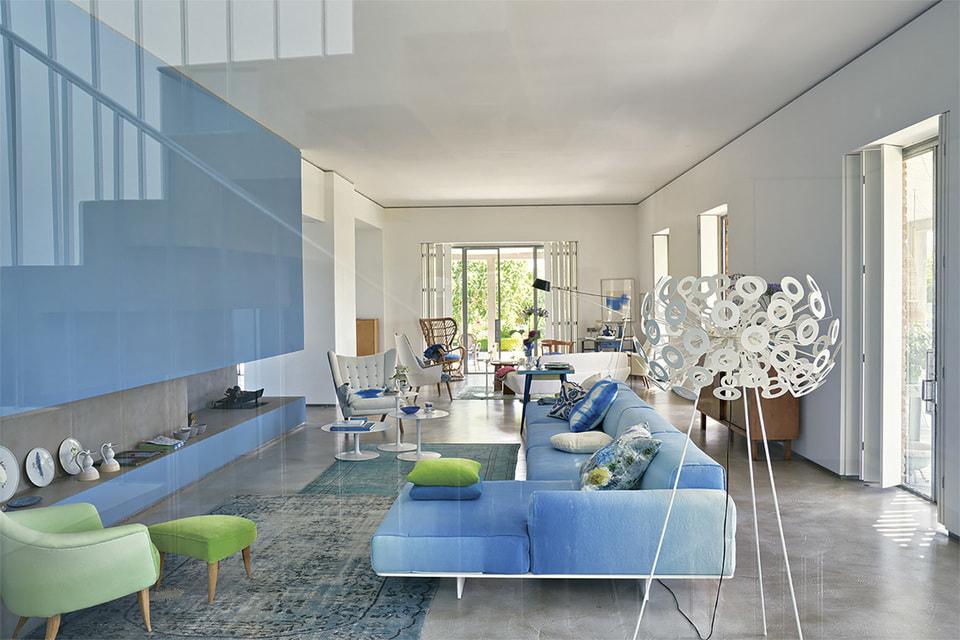 В домашнем интерьере дизайнера Триши Гилд преобладают сложные пастельные оттенки