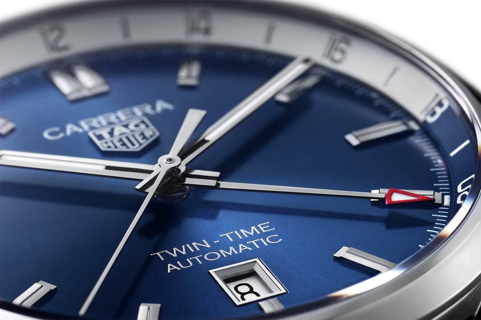 Увеличенные стрелки и улучшенная интеграция часовых меток на циферблате TAG Heuer Carrera Twin-Time 41 mm