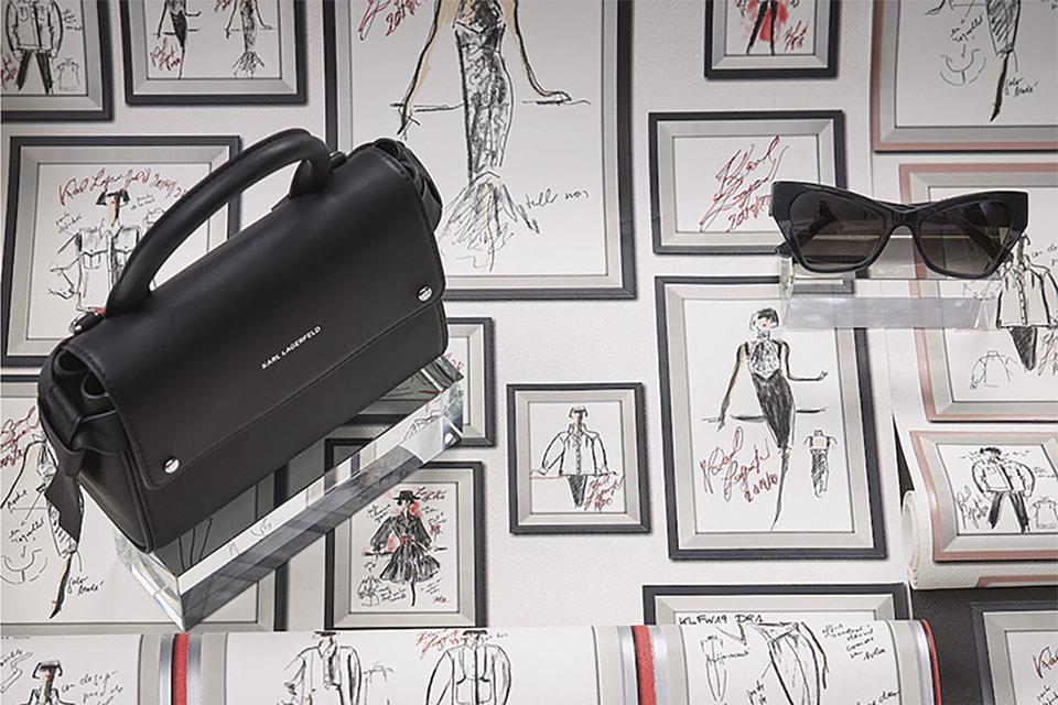 Обои Karl Lagerfeld украшены эскизами дизайнера
