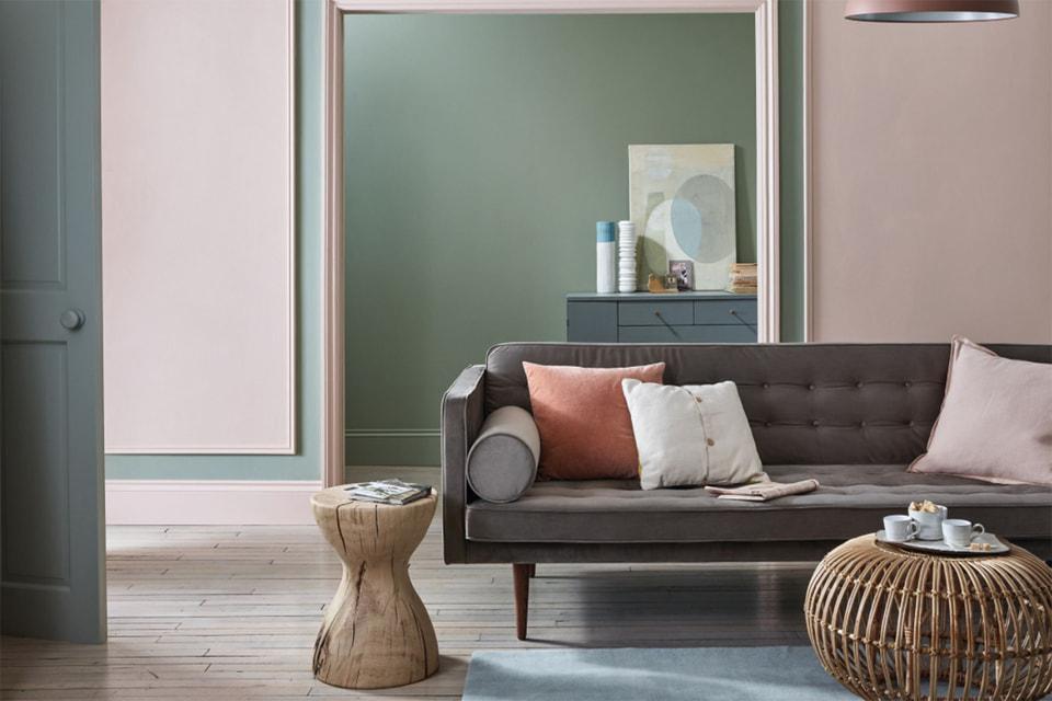 Интерьер с оттенком стен Setting Plaster