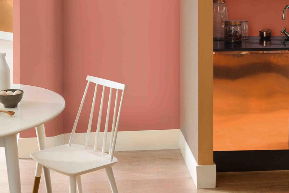 Copper Blush – еще один оттенок розового вошел в рейтинг самых популярных цветов осени для интерьеров