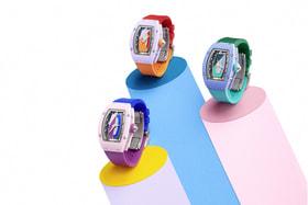 Дизайн часового трио RM 07-01 Coloured Ceramics вдохновлен современной архитектурой ар-деко в Майами