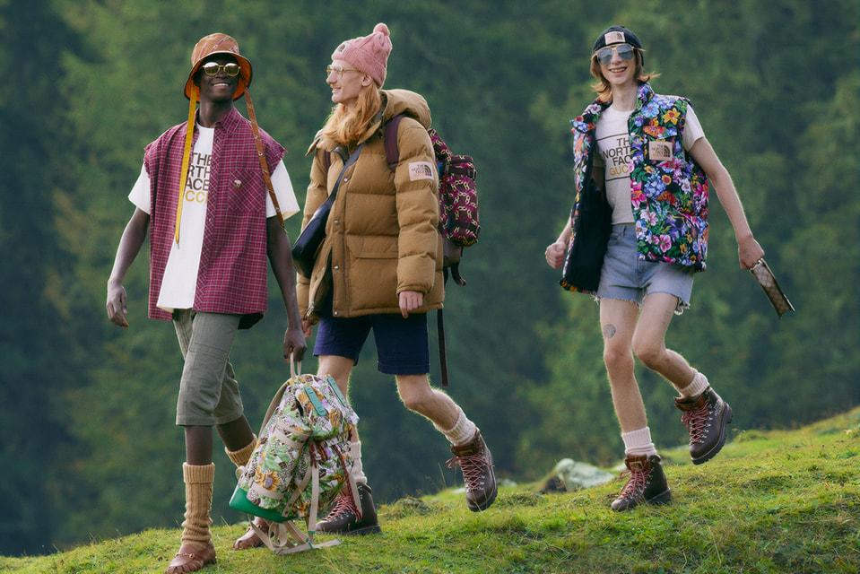 Экоустойчивая коллекция North Face x Gucci включает верхнюю одежду из архивных тканей