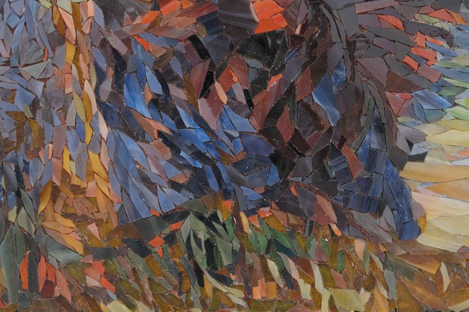 Мозаичная вариация картины Поля Гогена «Скалы на Бретонском побережье» (фрагменты)