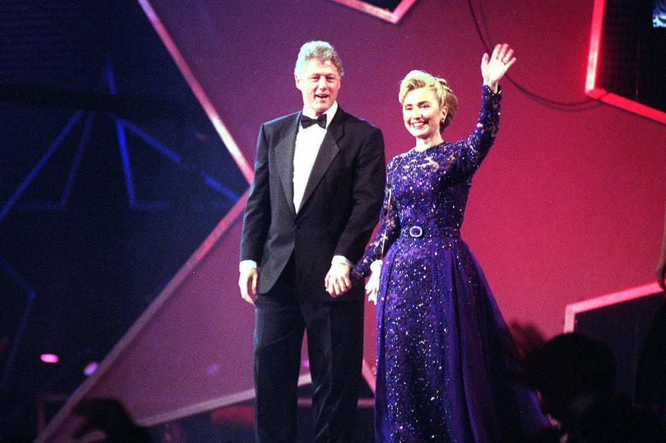 Хиллари и Билл Клинтоны, церемония инаугурации Б.Клинтона, 1993 г.