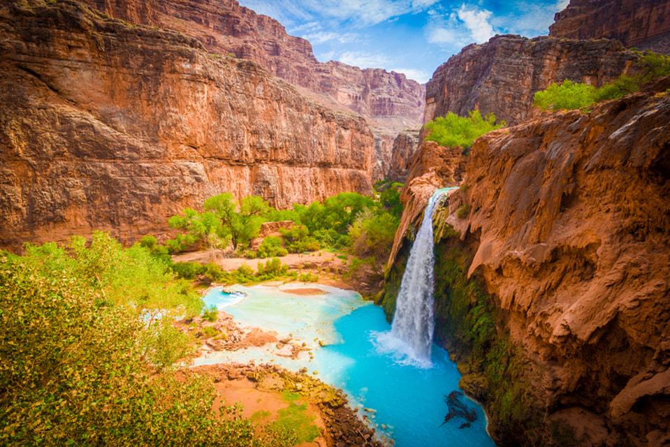 На втором месте — водопады Игуасу на границе Аргентины и Бразилии