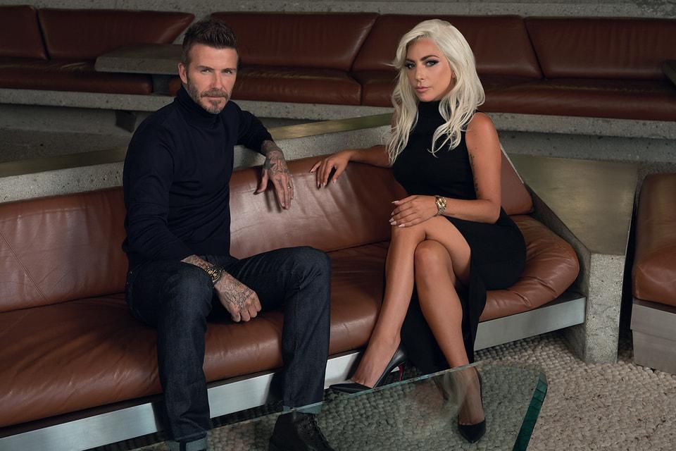 Послы швейцарского часового бренда Tudor футболист Дэвид Бекхэм и певица Леди Гага